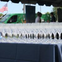 Table full of wine glasses
