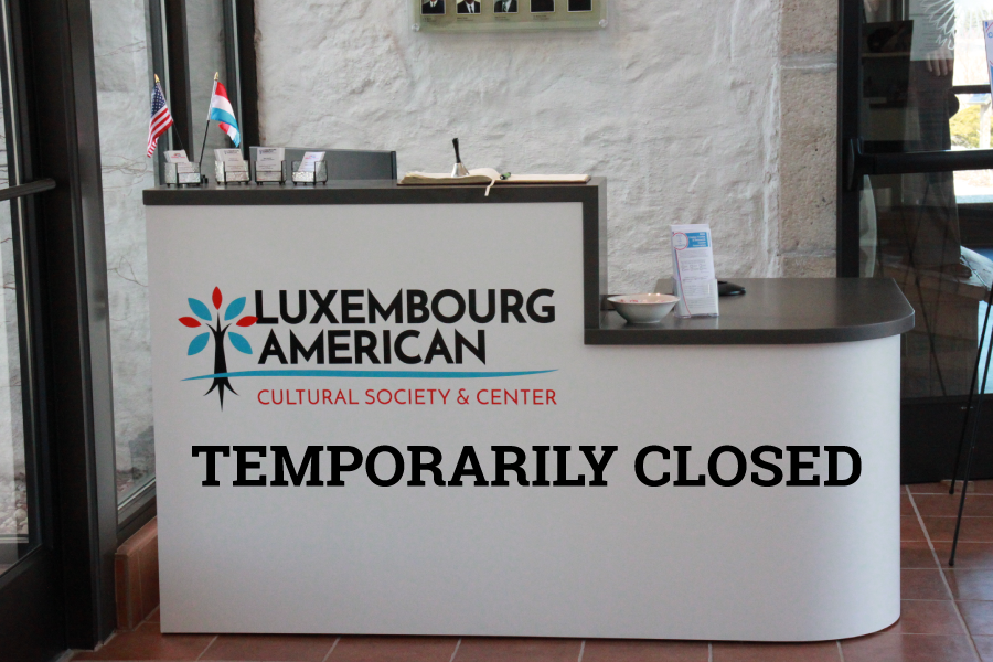 BELGIUM, WI. As a precautionary measure to protect its staff and guests from the risk of the coronavirus pandemic, the Luxembourg American Cultural Center will temporarily close to the public as of 4:00 pm Monday, March 16, 2020, until at least April 30th.