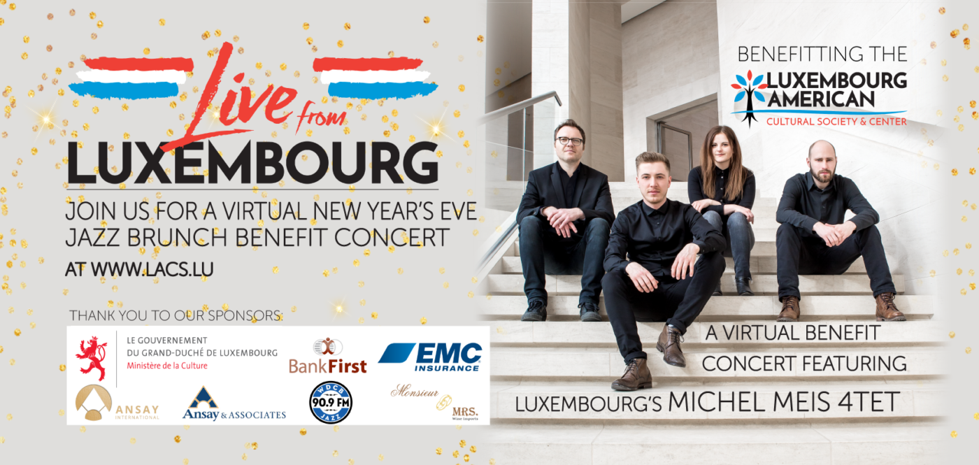 Live from Luxembourg- NYE Virtual Jazz Brunch with Michel Meis 4-Tet